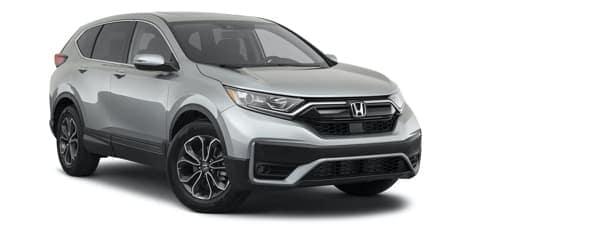 A silver 2021 Honda CR-V is angled right.