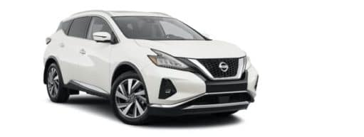 A white 2021 Nissan Murano SL is angled right.