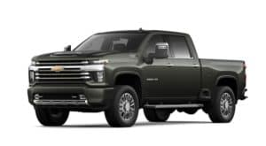 A green 2022 Chevy Silverado 3500HD is angled left.