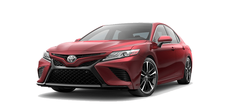 Angled view of the 2018 Camry
