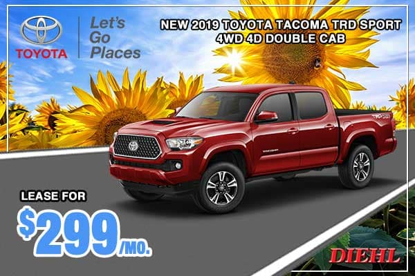New 2019 Toyota Tacoma TRD Sport 4WD 4D Double Cab