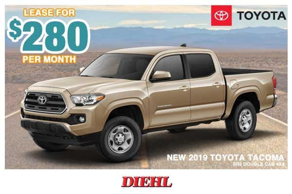 New 2019 Toyota Tacoma SR5 4WD 4D Double Cab