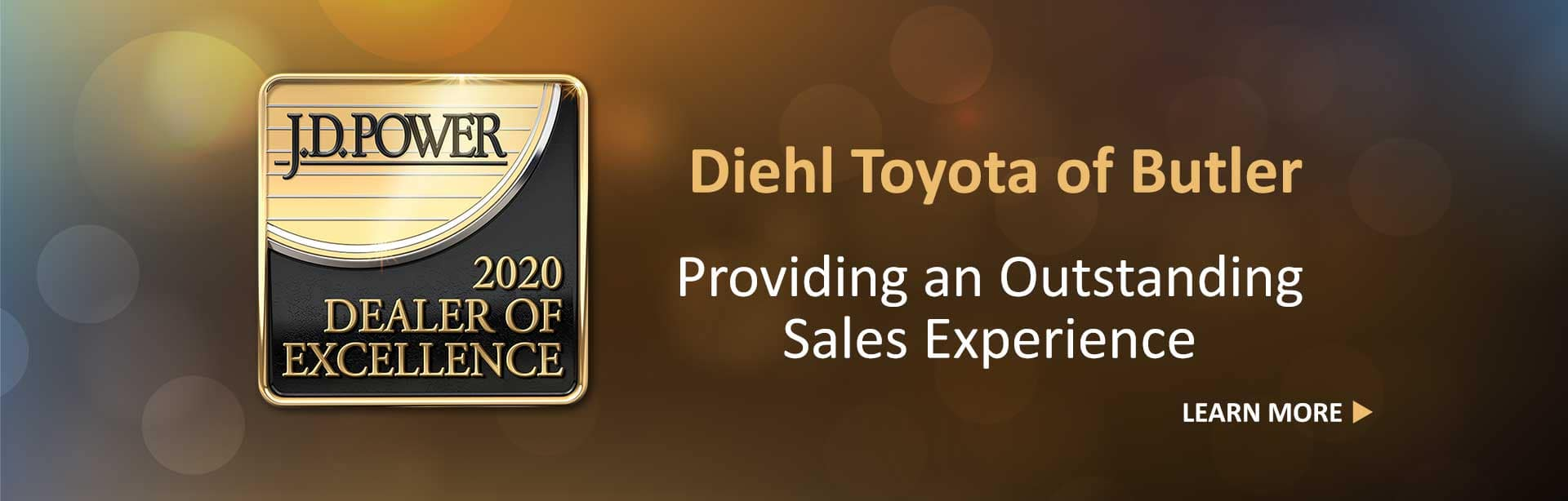 Diehl Toyota Butler PA Diehl Automotive Group JD Power Outstanding Sales Experience Dealership of Excellence