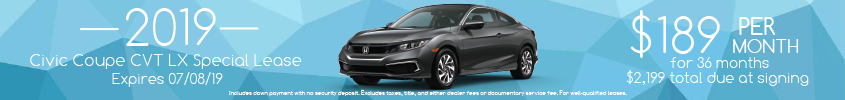 2019 Civic Coupe Lease
