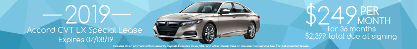 2019 Accord Lease Special
