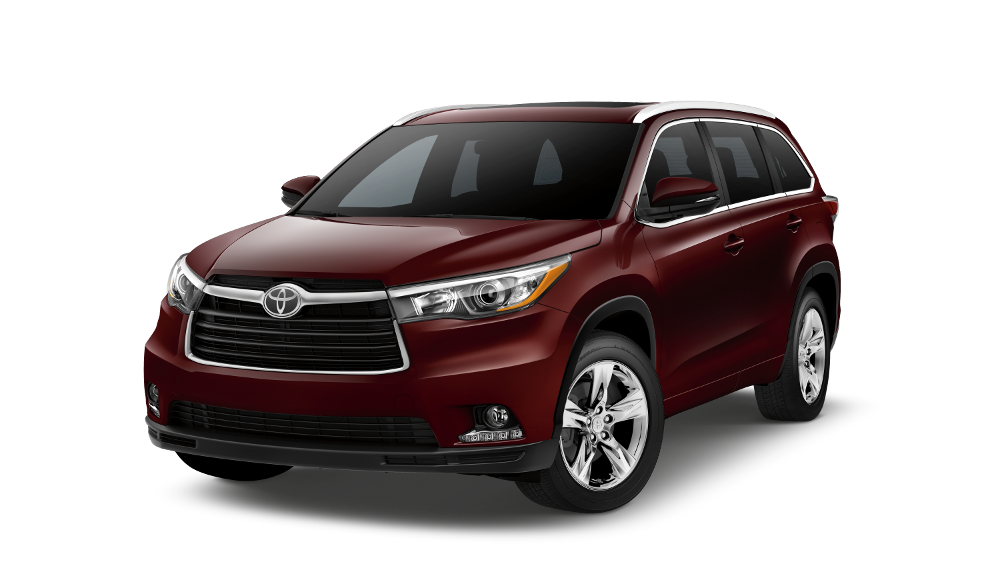 2015 Toyota Highlander on white background