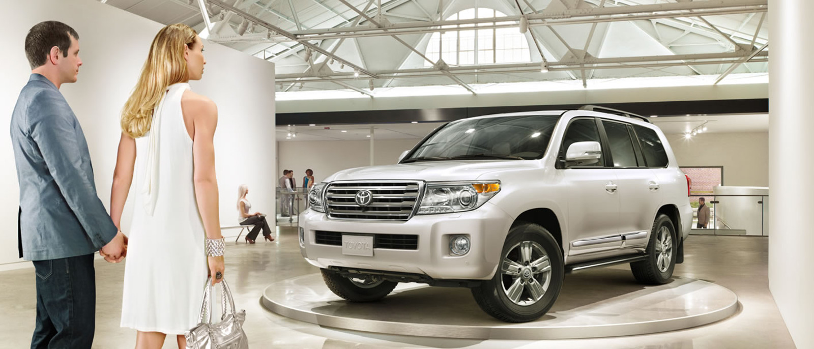 2015 Toyota Land Cruiser in showroom