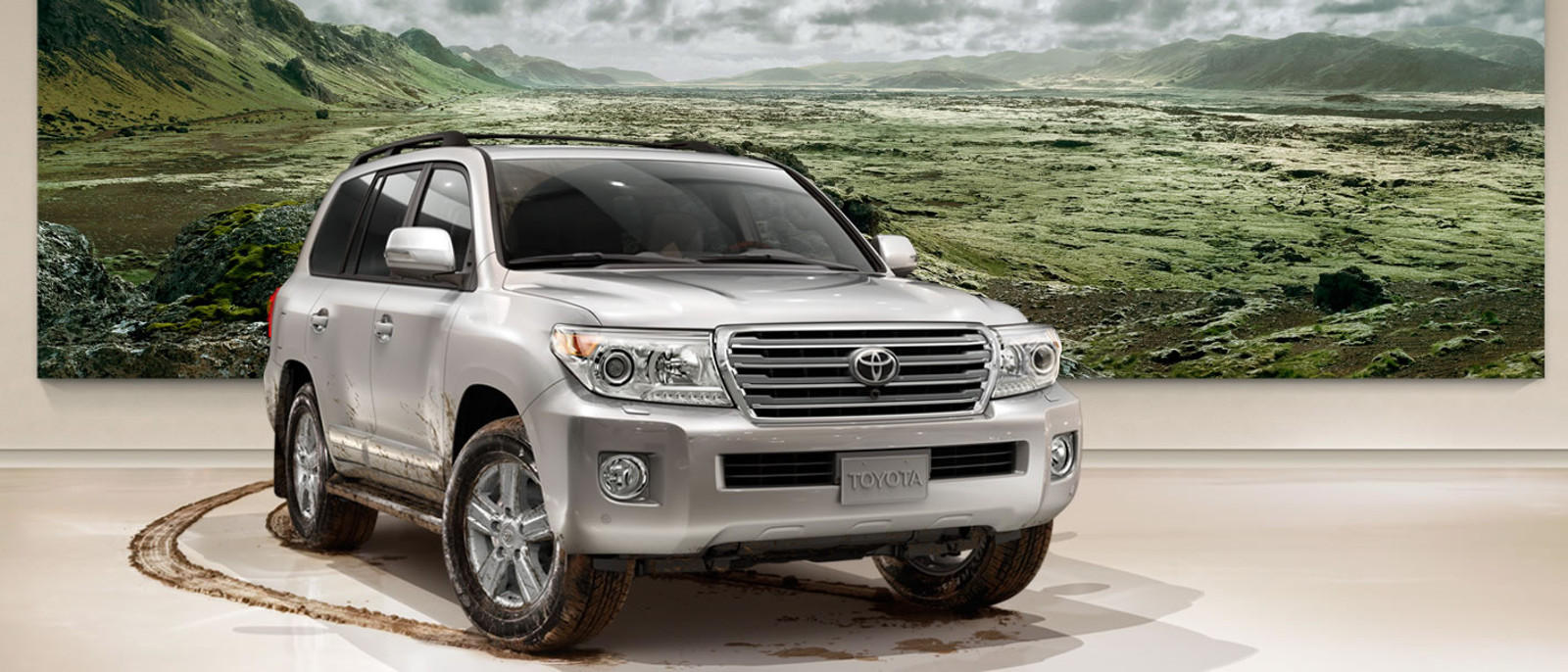 2015 Toyota Land Cruiser in showroom as display