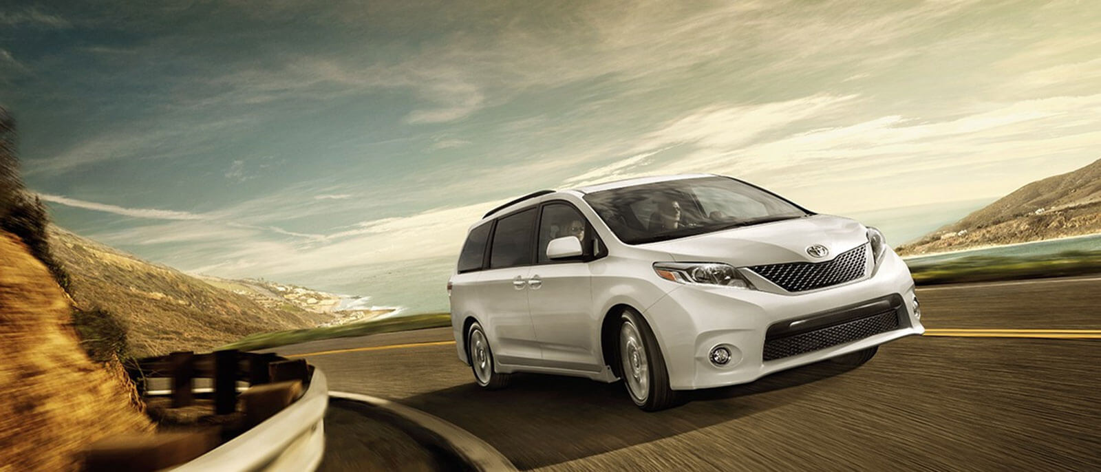 2016 Toyota Sienna on the highway