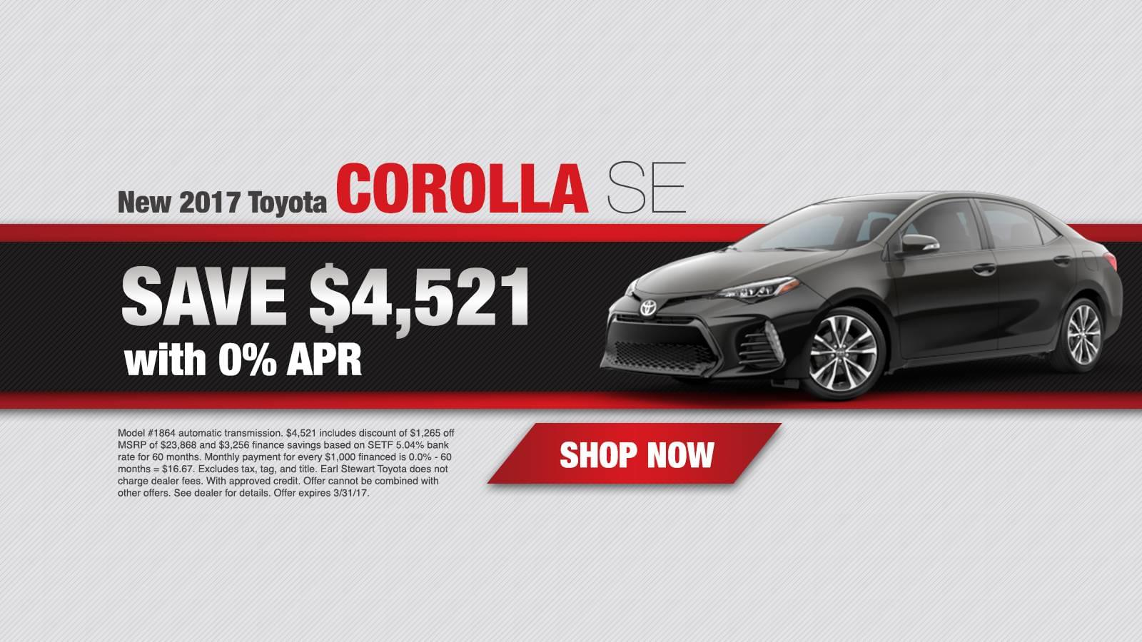 March Corolla APR Offer