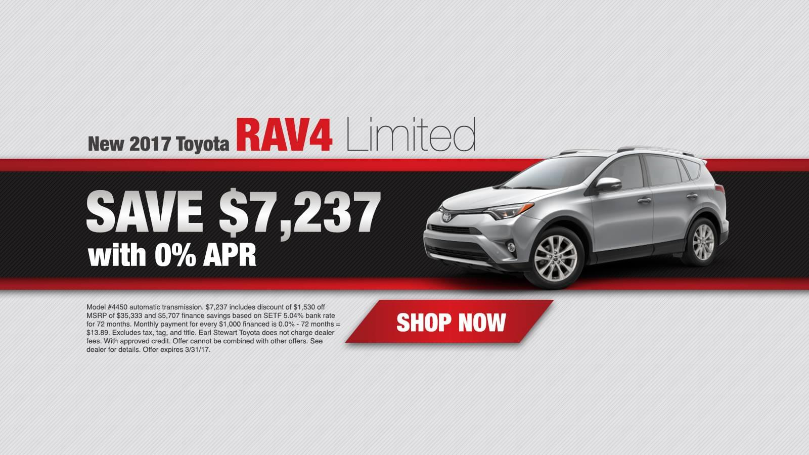 March Rav4 APR Offer