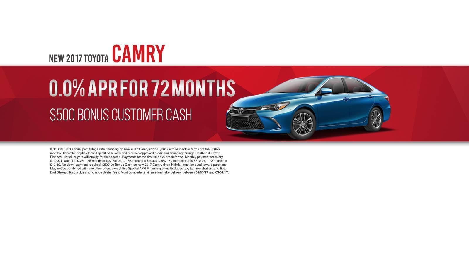 April Camry Offer