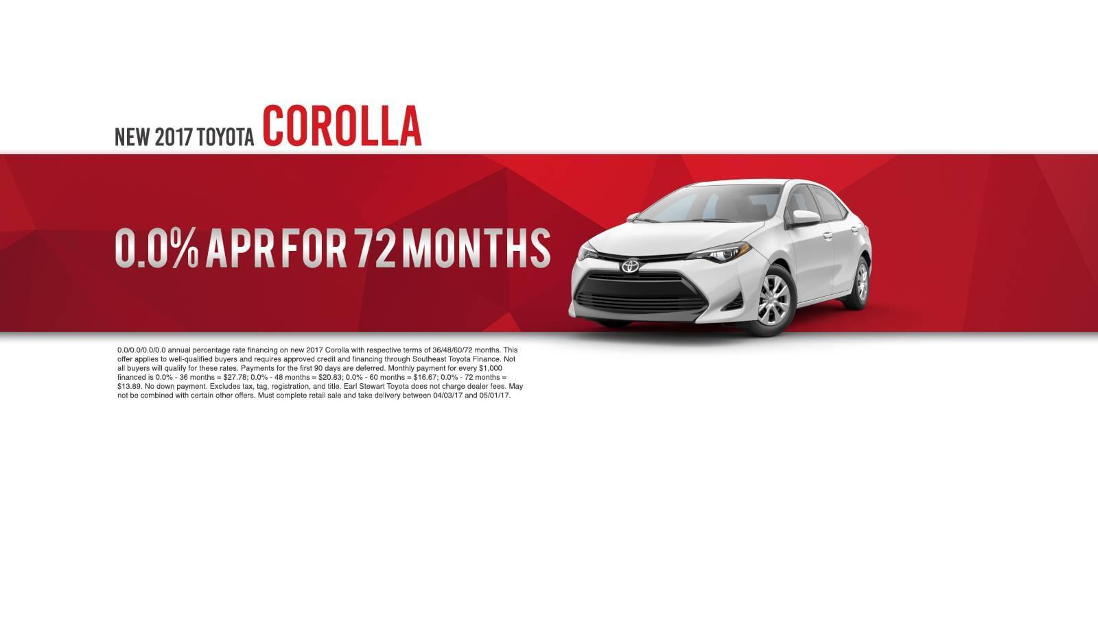 April Corolla Offer