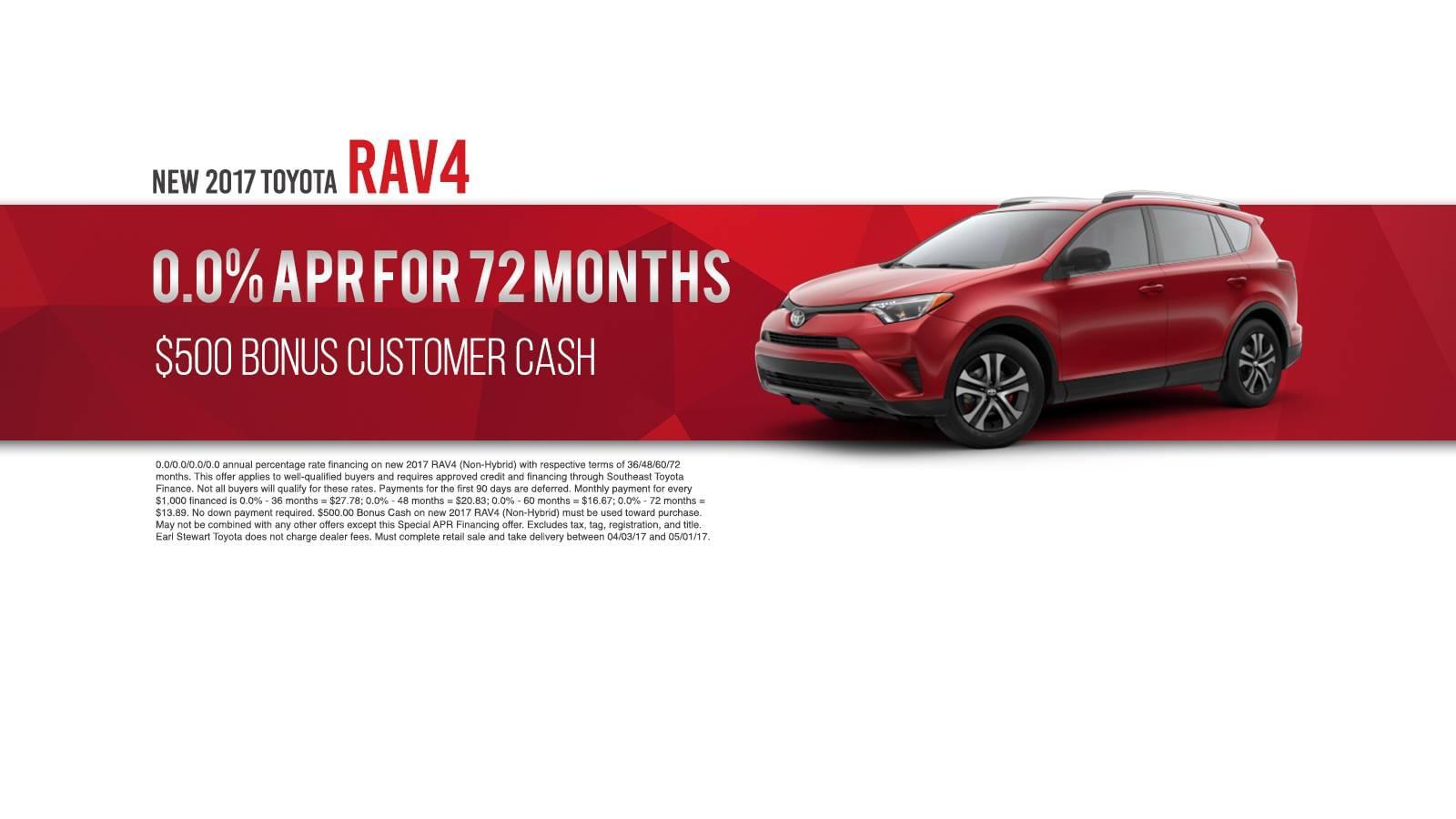 April Rav4 Offer