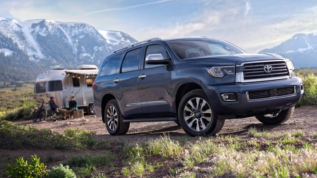 2019 Toyota Sequoia in mountains