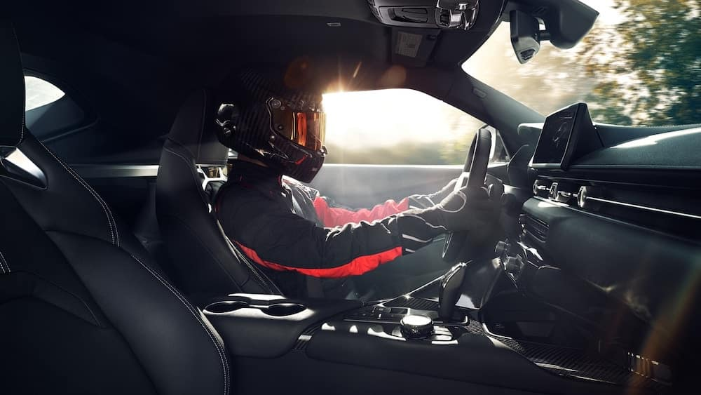 2020 Toyota Supra interior with driver