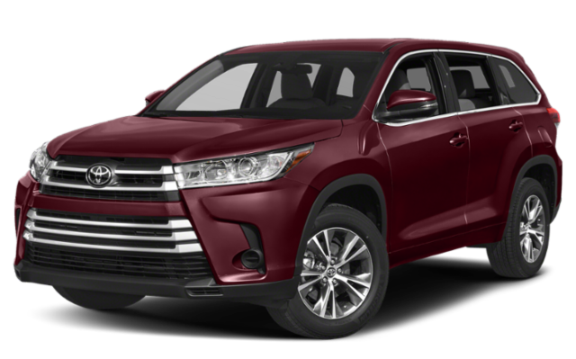 2019 Toyota Highlander red
