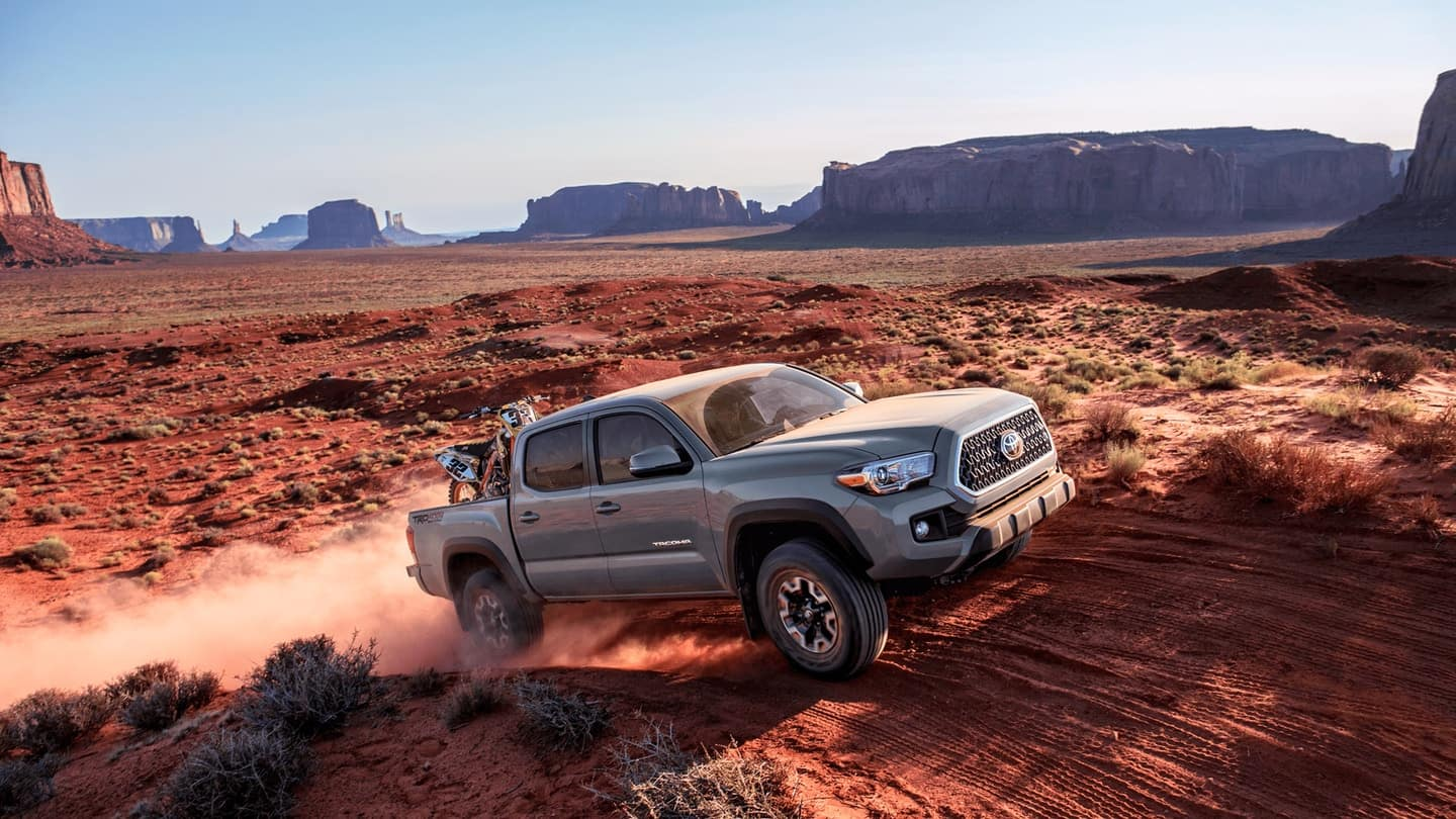 2019 Toyota Tacoma in the desert