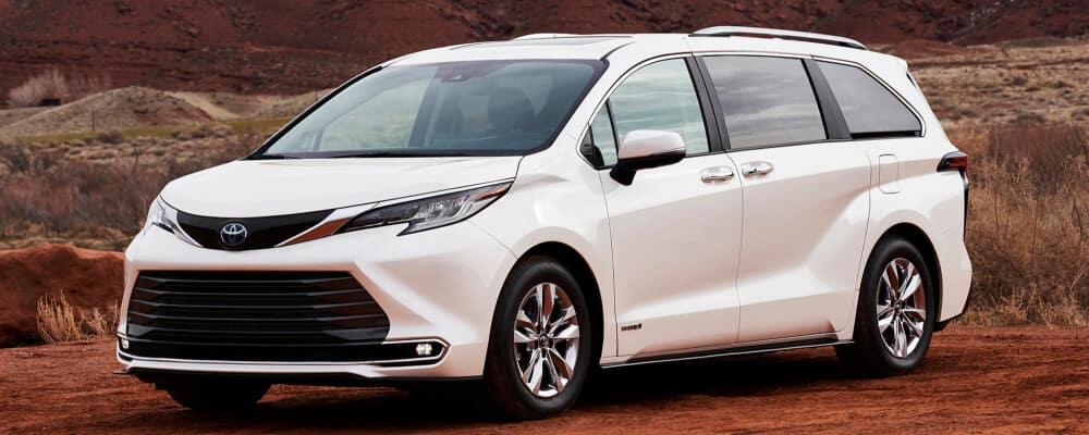 2021 Toyota Sienna parked in desert