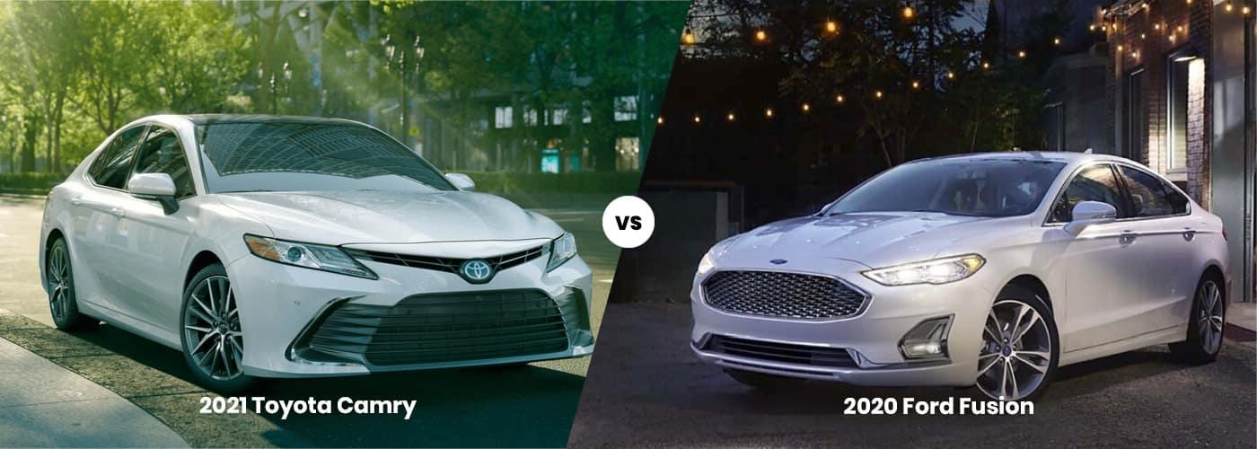 2021 Toyota Camry vs Ford Fusion comparison