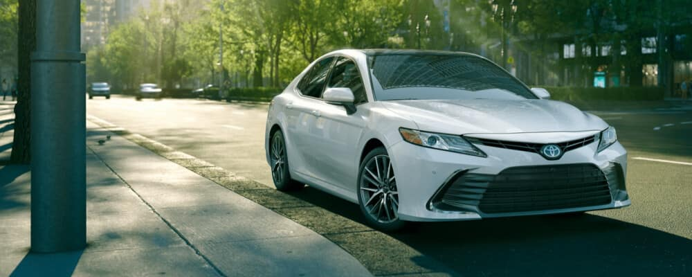 2021 Toyota Camry parked on city street
