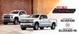 2021 Chevy Silverado 1500 vs 2021 Chevy Silverado Silverado HD   Fort Worth, TX