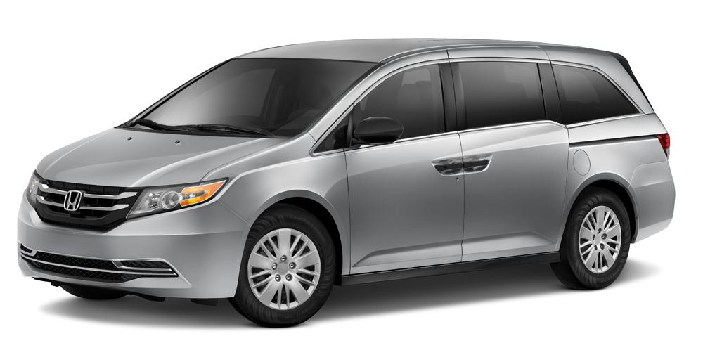 2014 Honda Odyssey on white bg