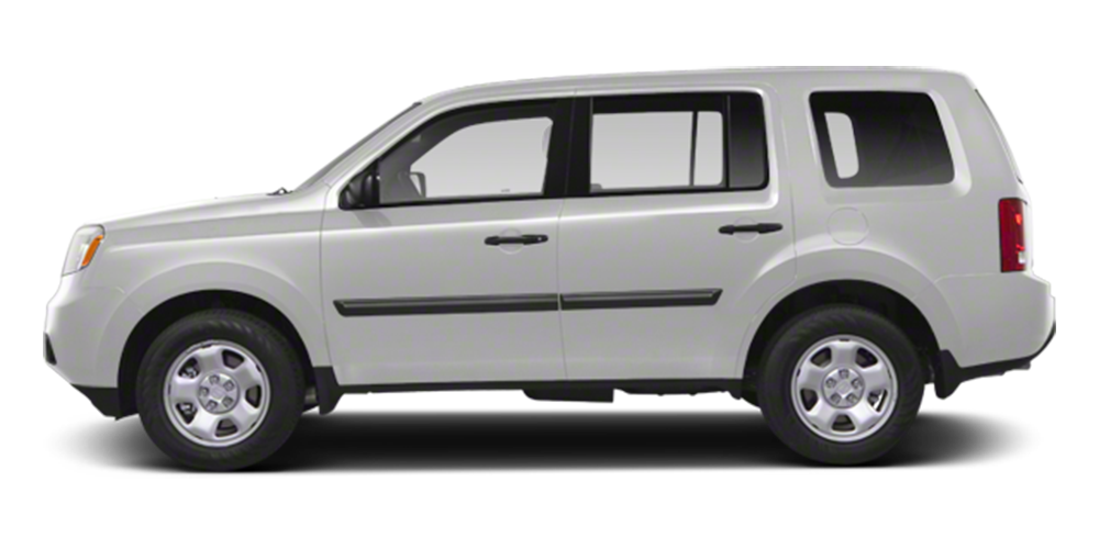2012 Honda Pilot on white