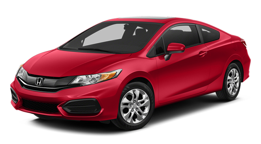 2014 Honda Civic Coupe on white bg