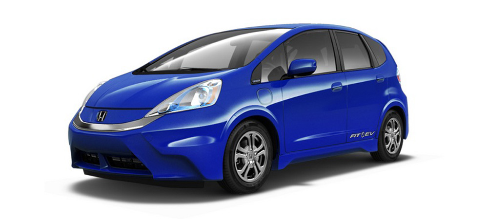 2014 Honda Fit EV on white