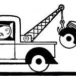 car being towed cartoon