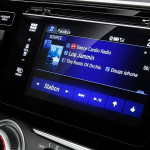 Touchscreen radio system in Honda model