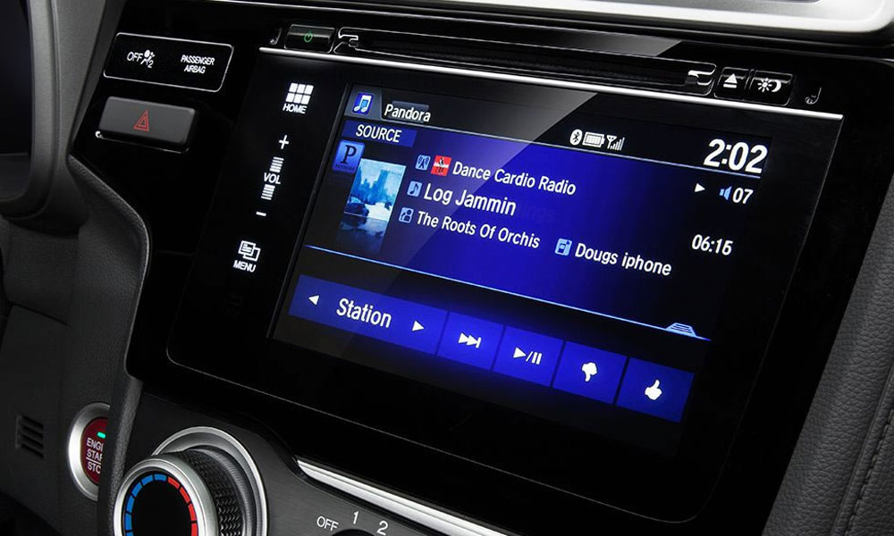 Elegant Touchscreen Radio System In Honda Model