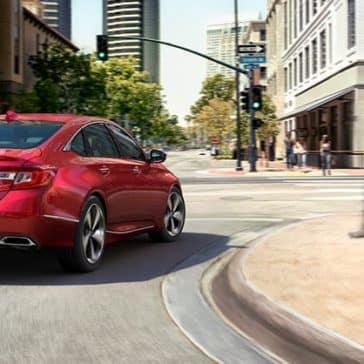 Red 2018 Honda Accord safety features