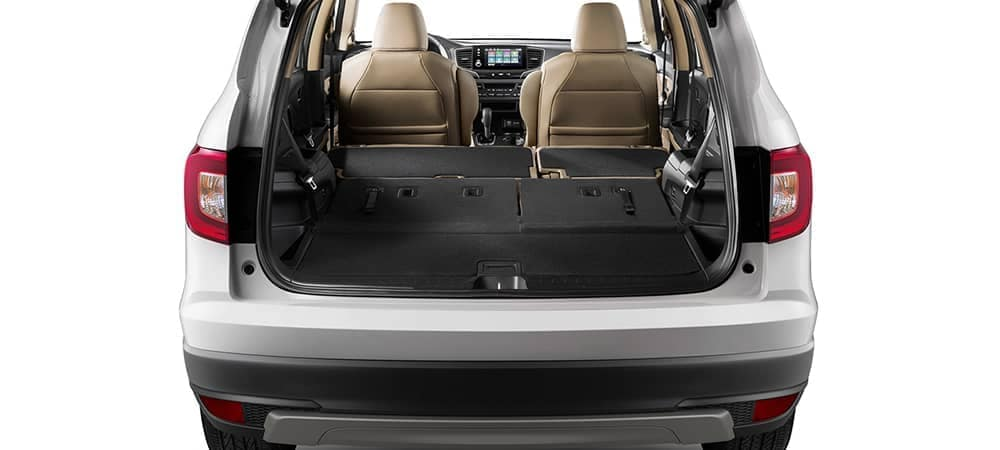 2019 Honda Pilot with third row folded down