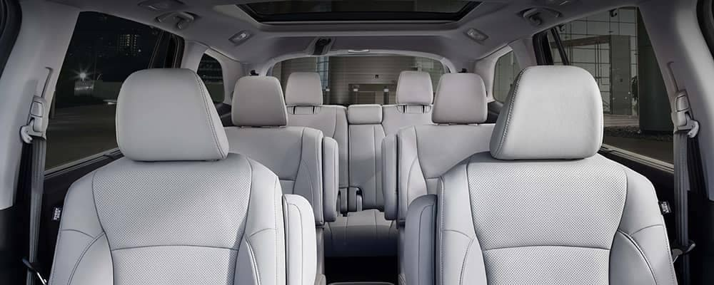 2019 Honda Pilot Interior with seats up