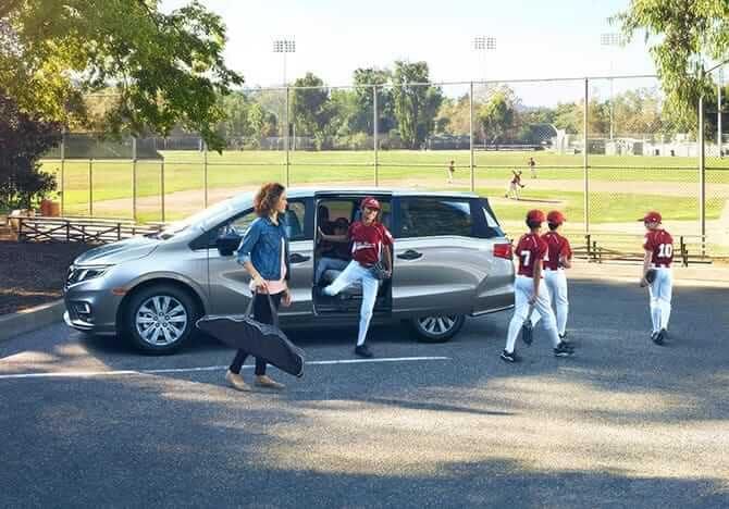 2019 Honda Odyssey at kids baseball game