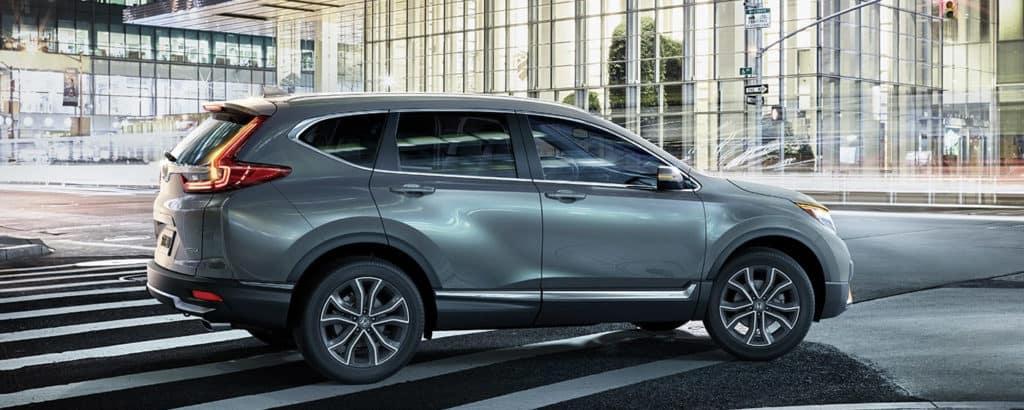 2020 Honda CR-V driving downtown
