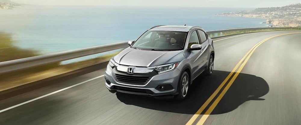 A 2020 Honda HR-V driving on a highway