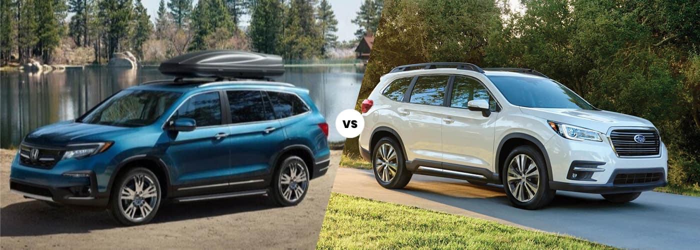 2021 Honda Pilot compared to 2021 Subaru Ascent