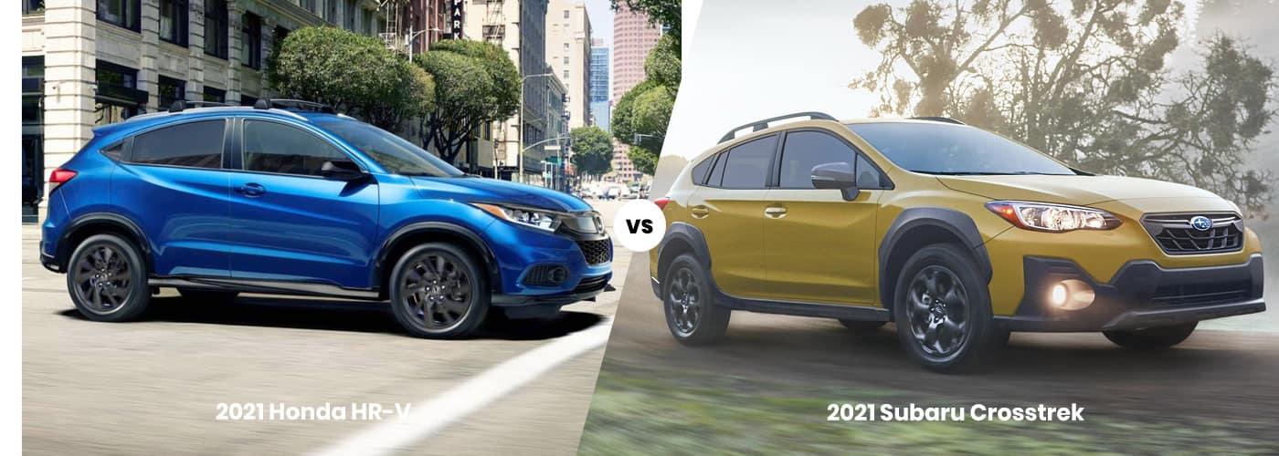 2021 Honda HR-V vs Subaru Crosstrek comparison