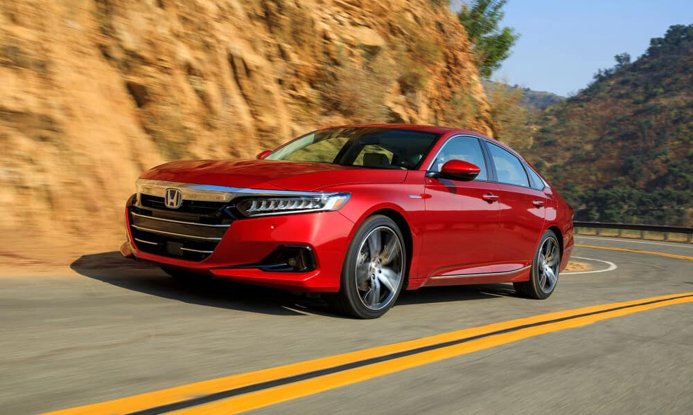2021 Honda Accord Hybrid on mountain road