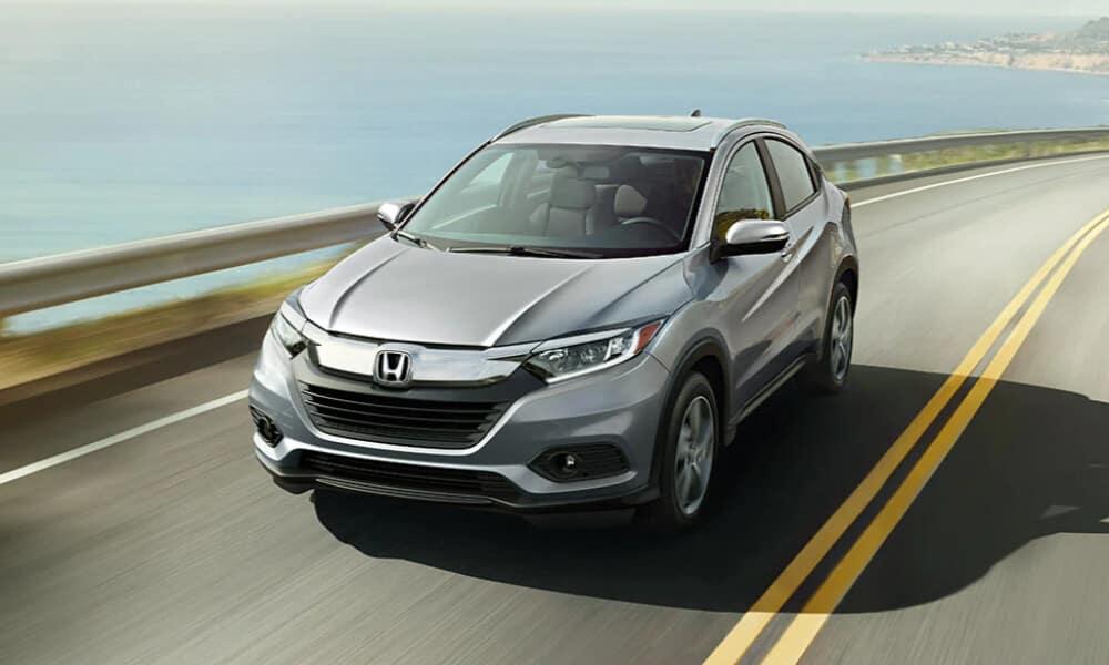 2022 Honda HR-V on coastal highway