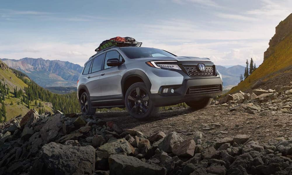 2021 Honda Passport off road with carriage rack