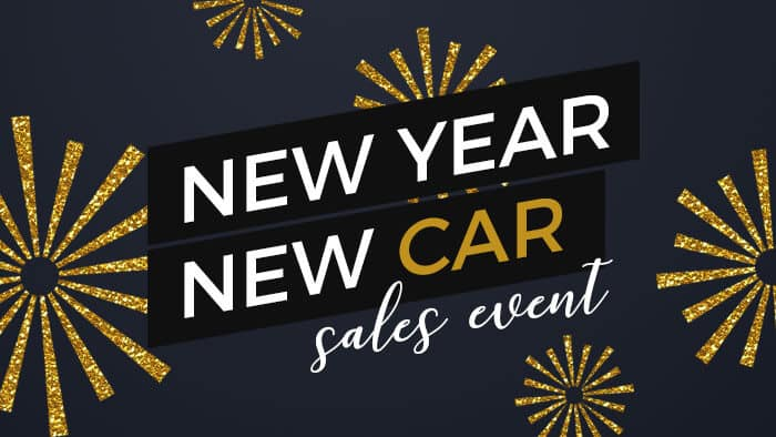 New Year New Car Sales Event