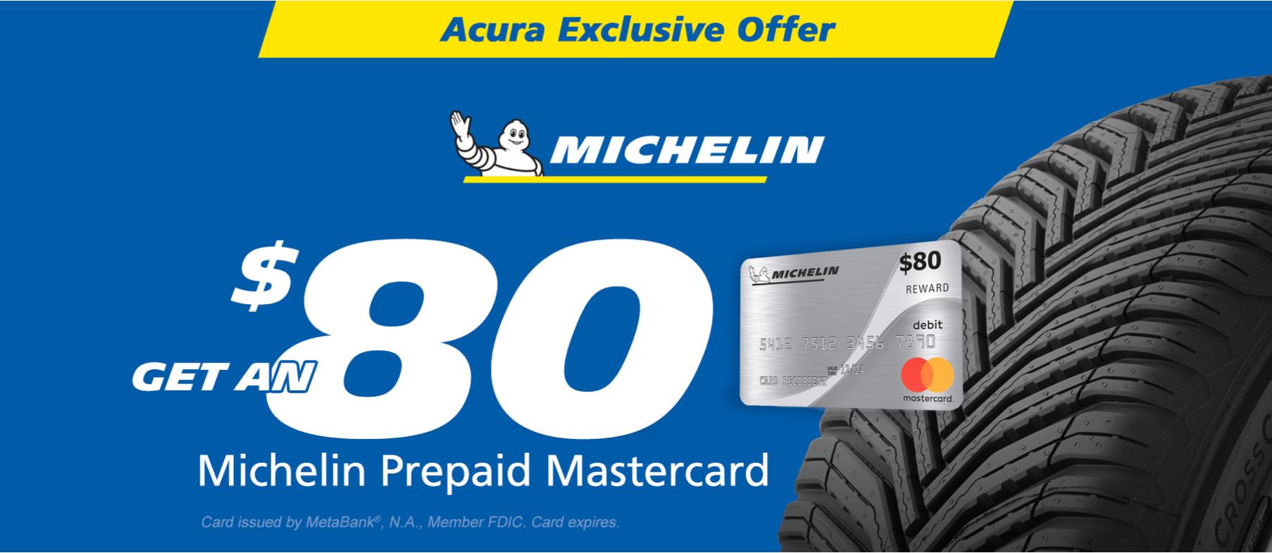 $80 Michelin Tire Rebate