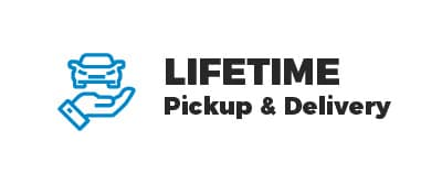 Lifetime pickup and delivery included with all new Acura models