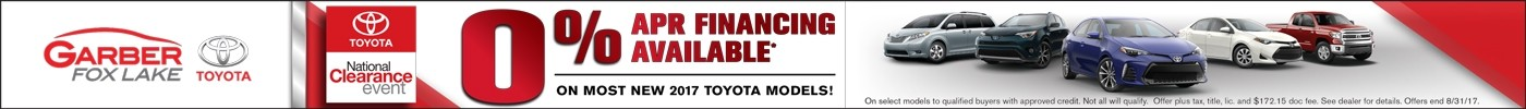 0% APR Financing on 2017 Models