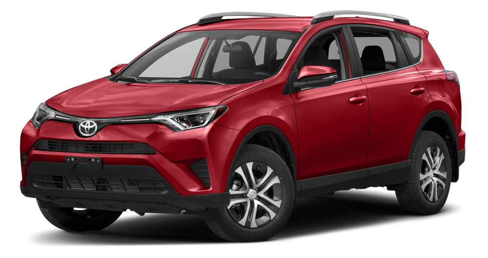 2017 Toyota RAV4 On White