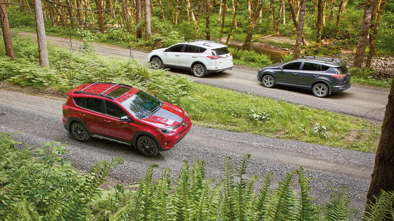 2018 Toyota RAV4 XLE, Adventure, and Limited